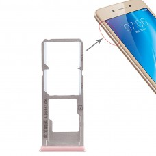 2 x SIM Card Tray + Micro SD Card Tray for Vivo Y53(Rose Gold)