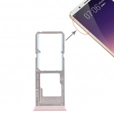 2 x SIM Card Tray + Micro SD Card Tray for Vivo Y79(Rose Gold)