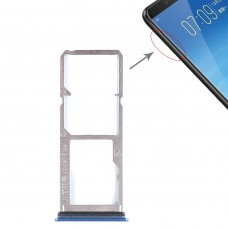2 x SIM Card Tray + Micro SD Card Tray for Vivo Y75(Blue)