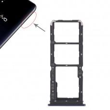 2 x SIM Card Tray + Micro SD Card Tray for Vivo Y97(Blue)