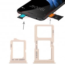 2 x SIM Card Tray + Micro SD Card Tray for Vivo Y66(Gold)