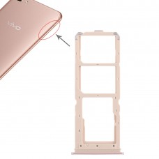 2 x SIM Card Tray + Micro SD Card Tray for Vivo Y71(Rose Gold)