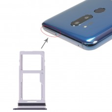 SIM Card Tray + SIM Card Tray / Micro SD Card Tray for LG G7 ThinQ G710 G710EM G710PM G710VMP G710ULM (Black)