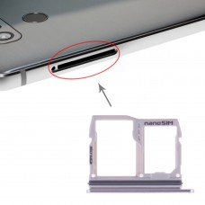 SIM Card Tray + Micro SD Card Tray for LG G6 H870 H871 H872 LS993 VS998 US997 H873 (Silver)