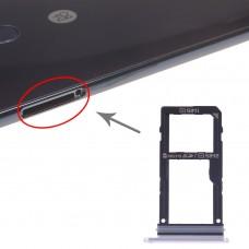 SIM Card Tray + SIM Card Tray / Micro SD Card Tray for LG V30 VS996 LS998U H933 LS998U (Silver)