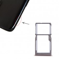 SIM Card Tray + SIM Card Tray / Micro SD Card Tray for Meizu 15 (Gold)
