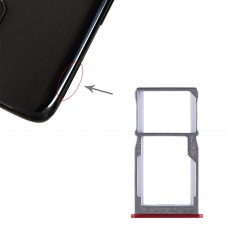 SIM Card Tray + SIM Card Tray / Micro SD Card Tray for Meizu 15 (Red)