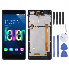LCD Screen and Digitizer Full Assembly with Frame for Wiko Fever 4G (Black)