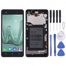 LCD Screen and Digitizer Full Assembly with Frame for Wiko Lenny 3(Black)