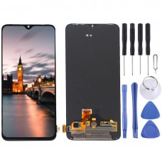 AMOLED Material LCD Screen and Digitizer Full Assembly for OnePlus 7(Black)