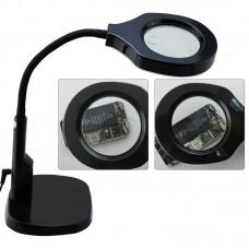 BEST Adjustable Desk Magnifier Lamp LED Light Magnifying Glass (Voltage 220V)