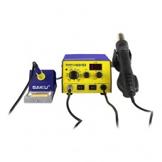 BAKU BK-601D AC 220V LED Display 2 in 1 Hot Air Gun Soldering Iron Soldering Station
