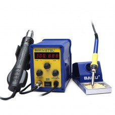 BAKU BK-878L2 AC 220V LED Display 2 in 1 Hot Air Gun Soldering Iron Soldering Station