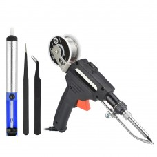 60W Hand-held Internal Heating Soldering Iron Automatically Send Tin Soldering Welding Repair Tool(Color:Black Size:EU Plug)