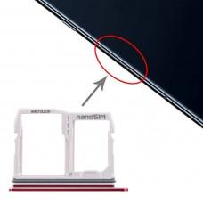 SIM Card Tray + Micro SD Card Tray for LG V40 ThinQ (Red)