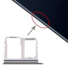 SIM Card Tray + Micro SD Card Tray for LG V40 ThinQ (Silver)