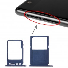 SIM Card Tray + Micro SD Card Tray for Nokia  3 TA-1020 TA-1028 TA-1032 TA-1038(Blue)