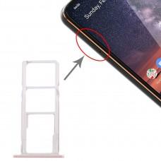 SIM Card Tray + SIM Card Tray + Micro SD Card Tray for Nokia 3.2 TA-1156 TA-1159 TA-1164 (Pink)