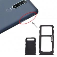 SIM Card Tray + SIM Card Tray + Micro SD Card Tray for Nokia 3.1 Plus (Black)