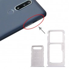 SIM Card Tray + SIM Card Tray + Micro SD Card Tray for Nokia 3.1 Plus (White)