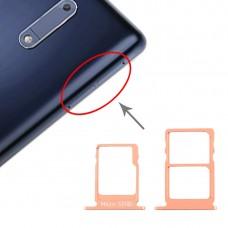 SIM Card Tray + SIM Card Tray + Micro SD Card Tray for Nokia 5 / N5 TA-1024 TA-1027 TA-1044 TA-1053 (Orange)