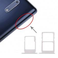 SIM Card Tray + SIM Card Tray + Micro SD Card Tray for Nokia 5 / N5 TA-1024 TA-1027 TA-1044 TA-1053 (White)