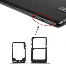 SIM Card Tray + SIM Card Tray + Micro SD Card Tray for Nokia 3.1 TA-1049 TA-1057 TA-1063 TA-1070 (Black)