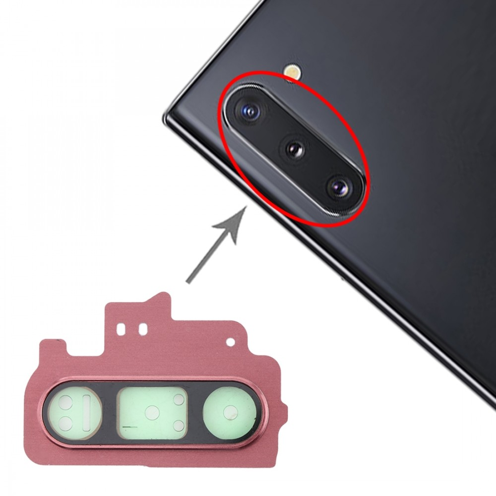 10 PCS Camera Lens Cover for Galaxy Note 10 (Pink)