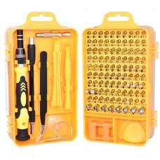 110 in 1 Magnetic Plum Screwdriver Mobile Phone Disassembly Repair Tool(Yellow)