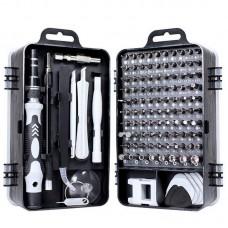 110 in 1 Magnetic Plum Screwdriver Mobile Phone Disassembly Repair Tool(Black)