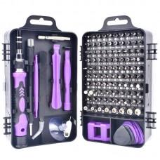 110 in 1 Magnetic Plum Screwdriver Mobile Phone Disassembly Repair Tool(Purple Black)
