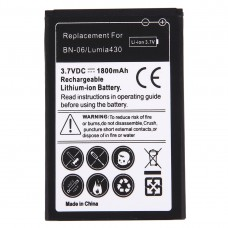 For Microsoft Lumia 430 / BN-06 1800mAh Rechargeable Li-ion Battery