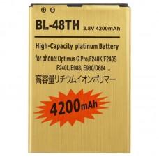4200mAh High Capacity Gold Business Battery for LG Optimus G Pro / F240K / F240S / F240L / E988 / E980 / D684