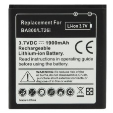 BA800 1900mAh Replacement Battery for Sony Xperia S / LT26i / Xperia Arc HD
