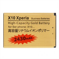 2430mAh High Capacity Gold Business Battery for Sony Ericsson Optimus X10 Xperia(Golden)