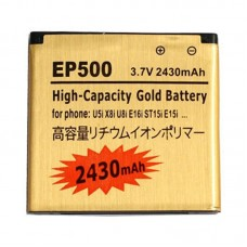 2430mAh High Capacity Gold Business Battery for Sony Ericsson U5i / U8i(Golden)