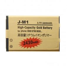 2430mAh High Capacity Gold Li-ion Mobile Phone Battery for BlackBerry J-M1 /9900 / 9790 / 9930