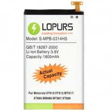 LOPURS High Capacity Business Battery for Motorola XT910 / XT912 / MT917 / XT885 / MB886 / MT887 / XT889 (Actual Capacity: 1800mAh)