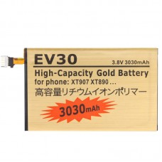 EV30 3030mAh High Capacity Gold Business Battery with Screwdriver for Motorola XT926