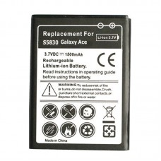 1500mAh Li-ion Battery for Galaxy Ace / S5830 / S5660 / S5670(Black)(Black)
