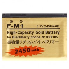 2450mAh F-M1 High Capacity Gold Business Replacement Battery for Blackberry 9105 / 9100 / Pearl 3G