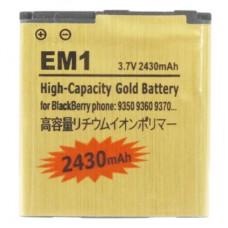 2430mAh EM1 High Capacity Golden Edition Business Battery for BlackBerry 9350 / 9360 / 9370