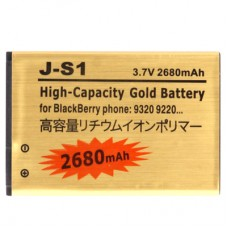 2680mAh J-S1 High Capacity Gold Business Replacement Battery for Blackberry 9220 / 9310 / 9320