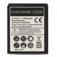 Mobile Phone Battery for HTC HD3/ HD7(Black)