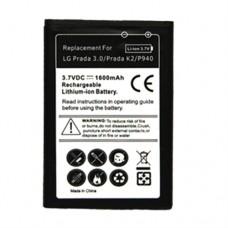 1600mAh Mobile Phone Battery for LG Prada 3.0 / Prada K2 / P940(Black)