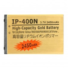 2450mAh High Capacity Gold Business Battery for LG Optimus T/ M/ S/ VS660/ MS690/ P509/ LS670/ Vorter(Golden)
