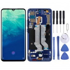 AMOLED Material LCD Screen and Digitizer Full Assembly with Frame for ZTE Axon 10 Pro (4G Version) (Blue)