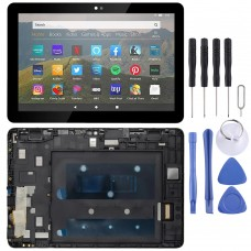 LCD Screen and Digitizer Full Assembly With Frame for Amazon Fire HD 8 2020 10th Gen K72LL4