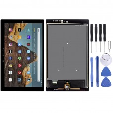 LCD Screen and Digitizer Full Assembly for Amazon Fire HD 10 2019 9th Gen m2v3r5(Black)
