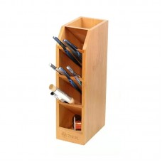 2UUL Bamboo Storage Rack Multifunctional Phone Repair Tool Holder